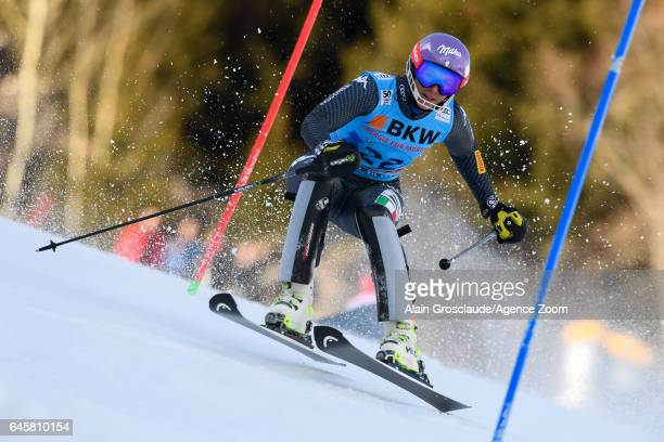 Elena Curtoni of Italy competes during the Audi FIS Alpine Ski World Cup Women's Alpine Combined on February 24, 2017 in Crans Montana, Switzerland