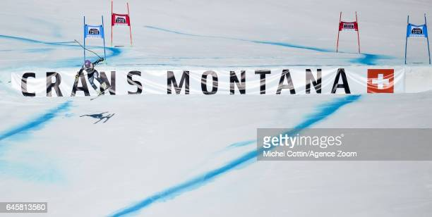 Elena Curtoni of Italy competes during the Audi FIS Alpine Ski World Cup Women's SuperG on February 25 2017 in Crans Montana Switzerland