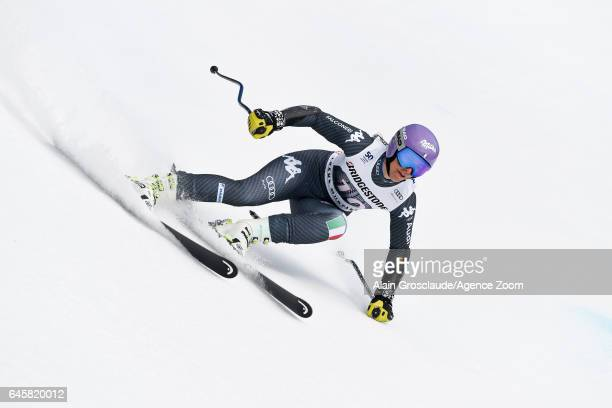 Elena Curtoni of Italy competes during the Audi FIS Alpine Ski World Cup Women's Alpine Combined on February 26 2017 in Crans Montana Switzerland