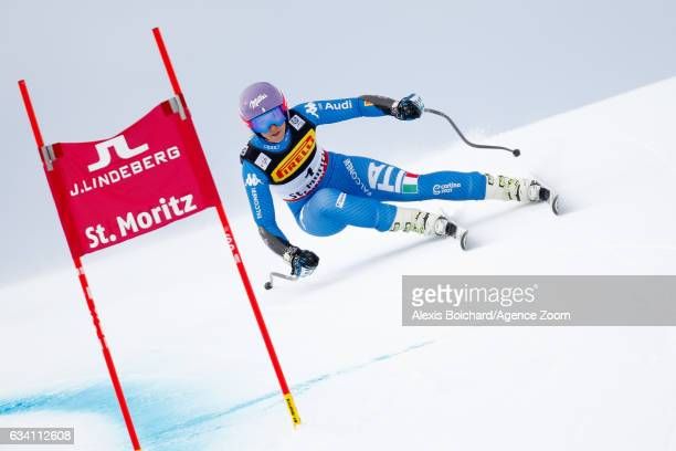 Elena Curtoni of Italy competes during the FIS Alpine Ski World Championships Women's SuperG on February 07 2017 in St Moritz Switzerland