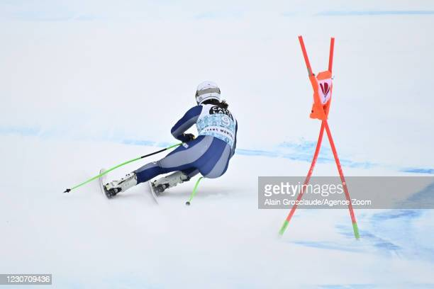 Elena Curtoni of Italy during the Audi FIS Alpine Ski World Cup Women's Downhill Training on January 20 - January 21, 2021 in Crans Montana...
