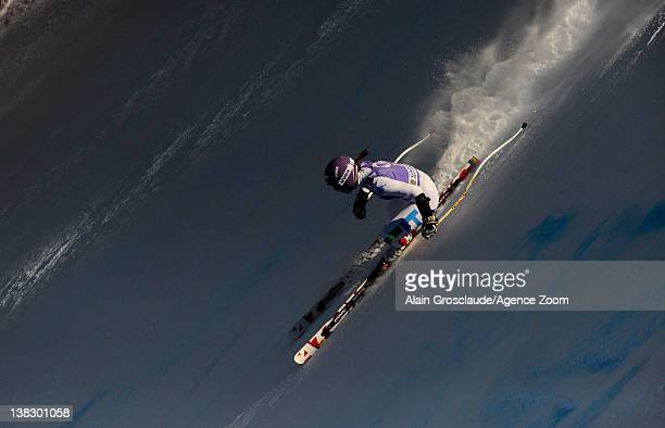 Elena Curtoni of Italy during the Audi FIS Alpine Ski World Cup Women's SuperG on February 5 2012 in GarmischPartenkirchen Germany