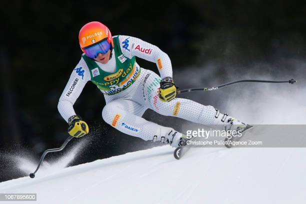 Elena Curtoni of Italy in action during the Audi FIS Alpine Ski World Cup Women's Super G on December 2 2018 in Lake Louise Canada