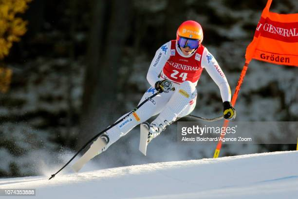 Elena Curtoni of Italy in action during the Audi FIS Alpine Ski World Cup Women's Downhill on December 18 2018 in Val Gardena Italy