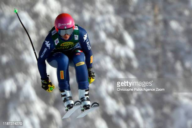 Elena Curtoni of Italy in action during the Audi FIS Alpine Ski World Cup Women's Super G on December 8, 2019 in Lake Louise Canada.