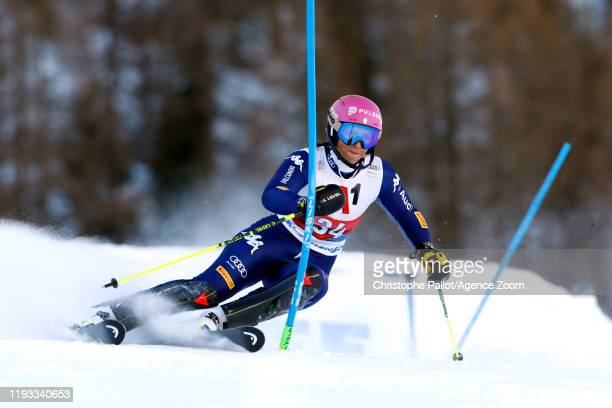 Elena Curtoni of Italy in action during the Audi FIS Alpine Ski World Cup Women's Alpine Combined on January 12 2020 in Zauchensee Austria