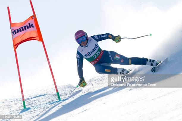 Elena Curtoni of Italy in action during the Audi FIS Alpine Ski World Cup Women's Downhill on January 25 2020 in Bansko Bulgaria