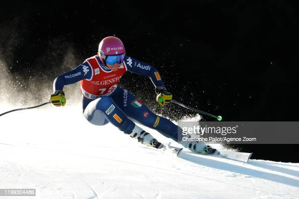 Elena Curtoni of Italy in action during the Audi FIS Alpine Ski World Cup Women's Downhill on February 8 2020 in Garmisch Partenkirchen Germany