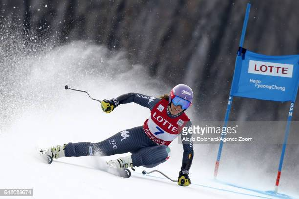 Elena Curtoni of Italy in action during the Audi FIS Alpine Ski World Cup Women's SuperG on March 05 2017 in Jeongseon South Korea