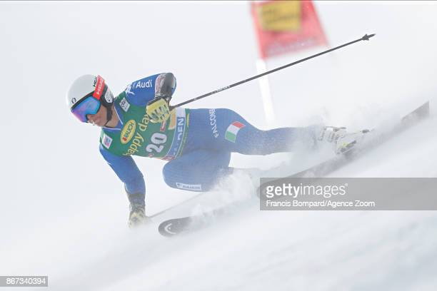 Elena Curtoni of Italy in action during the Audi FIS Alpine Ski World Cup Women's Giant Slalom on October 28 2017 in Soelden Austria