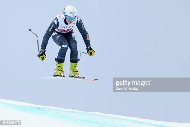 Elena Curtoni of Italy skis the course during the Audi FIS Ski World Cup 2017 Ladies' Downhill Training at the Jeongseon Alpine Centre on March 2...
