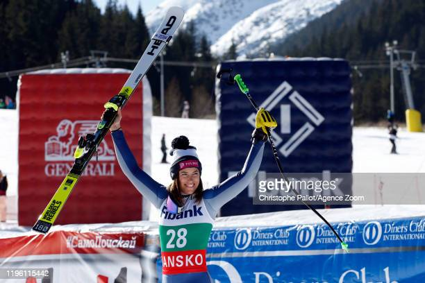 Elena Curtoni of Italy takes 1st place during the Audi FIS Alpine Ski World Cup Women's Downhill on January 25, 2020 in Bansko Bulgaria.