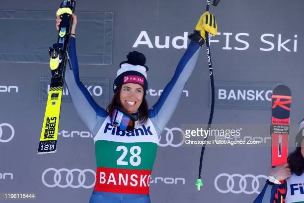 Elena Curtoni of Italy takes 1st place during the Audi FIS Alpine Ski World Cup Women's Downhill on January 25 2020 in Bansko Bulgaria