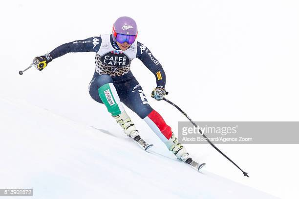 Elena Curtoni of Italy takes 3rd place during the Audi FIS Alpine Ski World Cup Finals Men's and Women's Downhill on March 16 2016 in St Moritz...