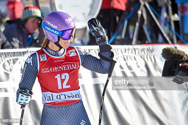 Elena Curtoni of Italy takes 3rd place during the Audi FIS Alpine Ski World Cup Women's SuperG on December 18 2016 in Vald'Isere France