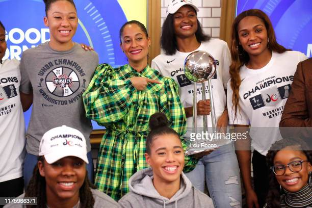 Elena Delle Donne and Kristi Toliver of the WNBA are guests on Good Morning America Monday October 14 airing on ABC GMA19 TRACEE
