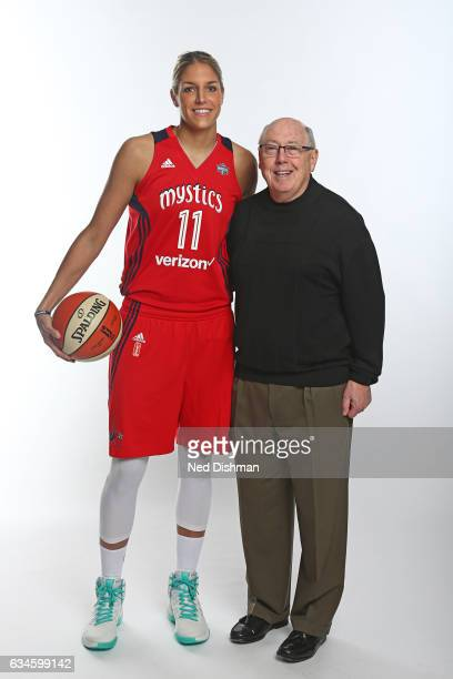 Elena Delle Donne and Mike Thibault of the Washington Mystics pose for a photo on February 10 2017 at Verizon Center in Washington DC NOTE TO USER...