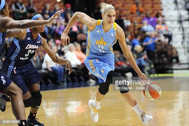 Elena Delle Donne of the Chicago Sky in action during the Atlanta Dream Vs Chicago Sky preseason WNBA game at Mohegan Sun Arena on May 05 2016 in...