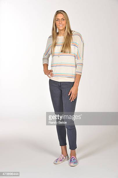 Elena Delle Donne of the Chicago Sky poses for a photo during the 2015 Chicago Sky Media Day on May 18 2015 at the Sachs Recreation Center in...