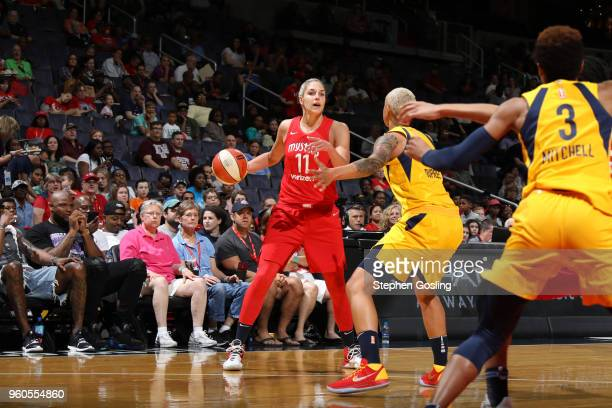 Elena Delle Donne of the Washington Mystics handles the ball against the Indiana Fever on May 20 2018 at Capital One Arena in Washington DC NOTE TO...