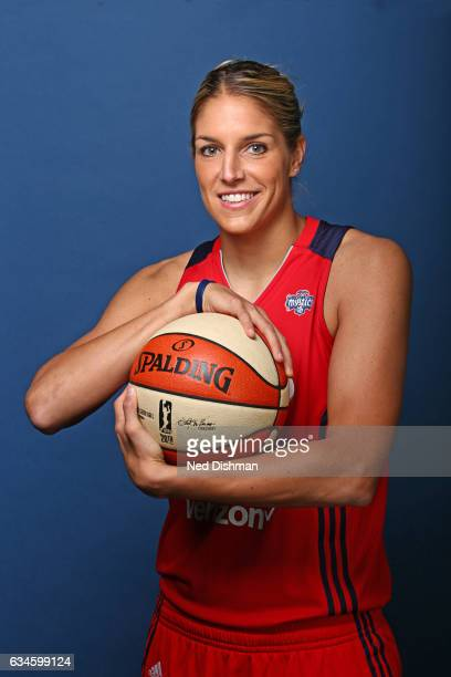 Elena Delle Donne of the Washington Mystics poses for a photo on February 10 2017 at Verizon Center in Washington DC NOTE TO USER User expressly...