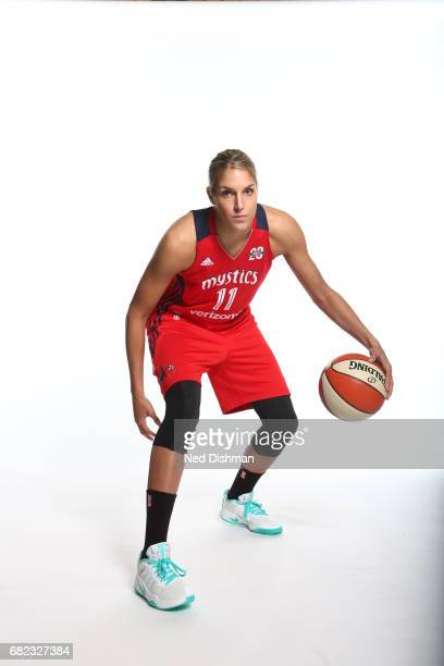 Elena Delle Donne of the Washington Mystics poses for a portrait during Media Day on May 11 2017 at Verizon Center in Washington DC NOTE TO USER User...