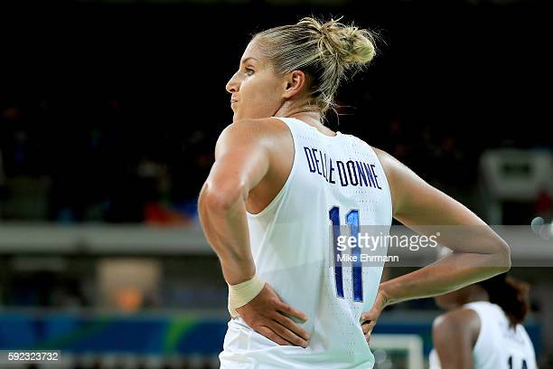 Elena Delle Donne of United States looks on in the fourth quarter during the Women's Gold Medal Game between United States and Spain on Day 15 of the...