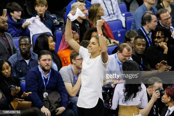 Elena Delle Donne WNBA Players during the NBA game against Washington Wizards and New York Knicks at The O2 Arena on January 17 2019 in London...