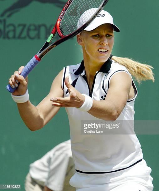Elena Dementieva defeats Aniko Kapros 63 61 in the third round of the Wimblendon