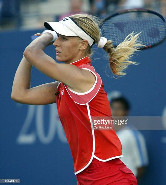 Elena Dementieva during her semifinal match against Jenifer Capriotti at the 2004 US Open in New York on September 10 2004 Dementieva won 602676