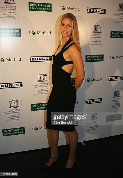 Elena Dementieva of Russia arrives at the Sony Ericsson WTA Tour Yearend party during day five of the Sony Ericsson WTA Tour Championships at Moma...
