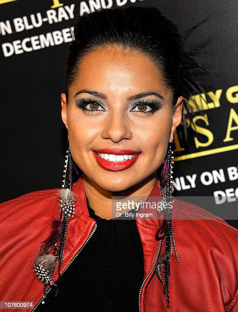 Elena Diaz attends the Family Guy It's A Trap DVD Launch Party at SupperClub Los Angeles on December 14 2010 in Los Angeles California