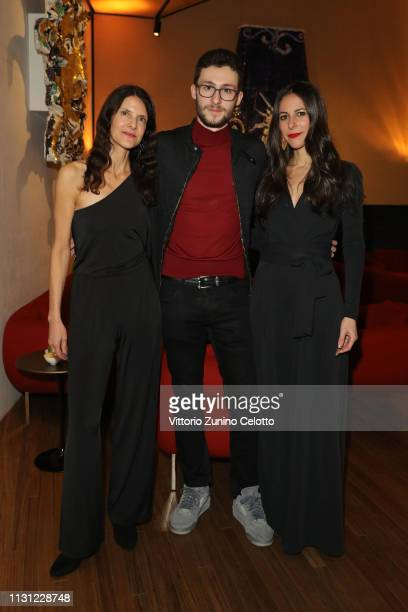 Elena Dorfman, Argento Celant and Jamie Diamond attend the dinner after the Prada Show during Milan Fashion Week Fall/Winter 2019/20 on February 21,...