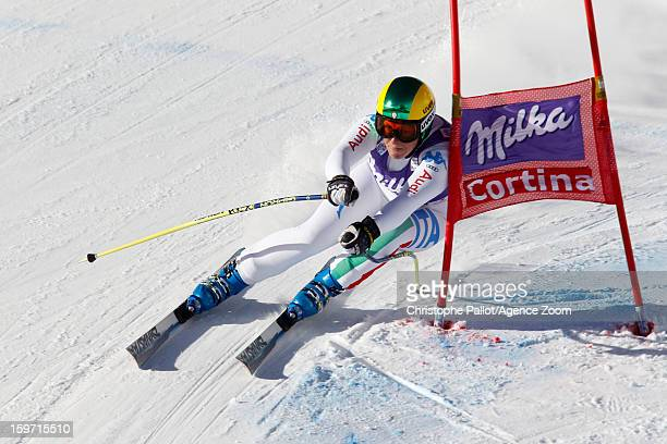 Elena Fanchini of Italy competes during the Audi FIS Alpine Ski World Cup Women's Downhill on January 19 2013 in Cortina d'Ampezzo Italy