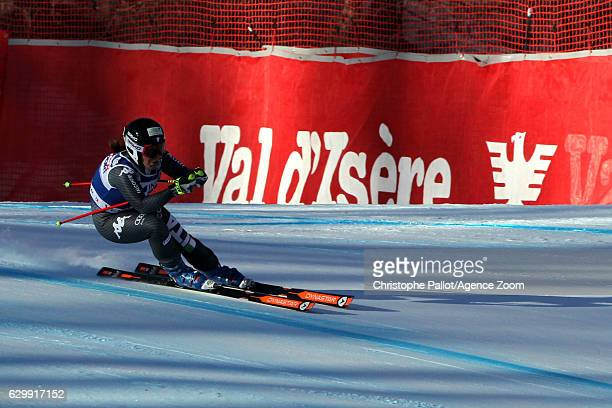 Elena Fanchini of Italy in action during the Audi FIS Alpine Ski World Cup Women's Downhill Training on December 15 2016 in Vald'Isere France