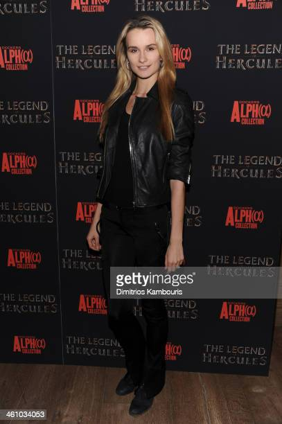 Elena Foley attends the The Legend Of Hercules premiere at the Crosby Street Hotel on January 6 2014 in New York City