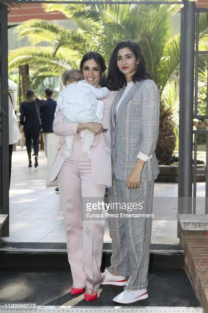 Elena Furiase and Alba Flores attend the christening of Noah Sierra on March 2 2019 in Madrid Spain