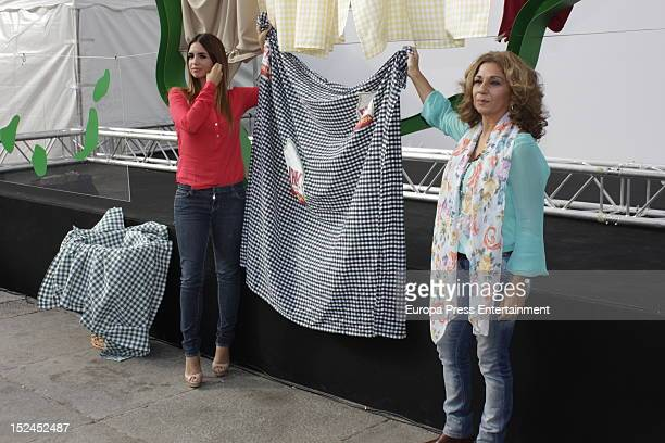 Elena Furiase and her mother Lolita attend Fairy event photocall on September 20 2012 in Madrid Spain