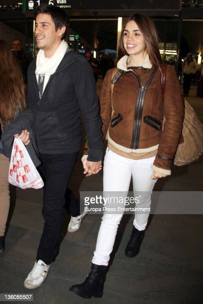 Elena Furiase and Leo Perugorria are seen on December 22, 2011 in Madrid, Spain.