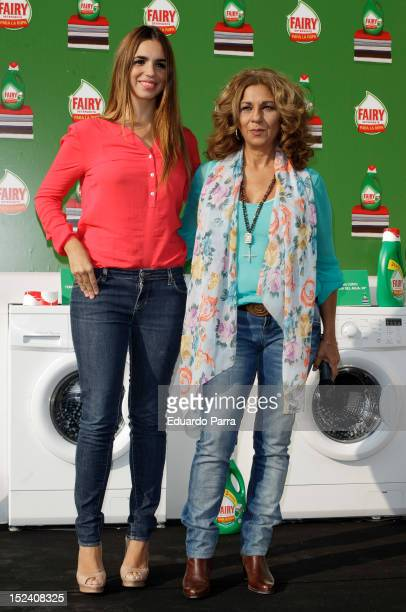 Elena Furiase and Lolita attend Fairy event photocall at Spain Circus on September 20 2012 in Madrid Spain