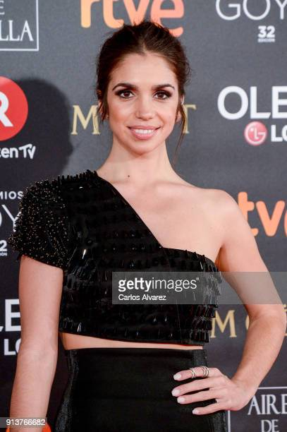 Elena Furiase attends Goya Cinema Awards 2018 at Madrid Marriott Auditorium on February 3 2018 in Madrid Spain