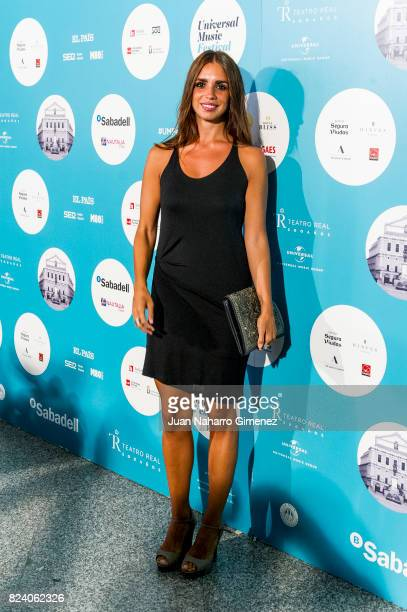 Elena Furiase attends Rosaio concert at Teatro Real on July 28 2017 in Madrid Spain