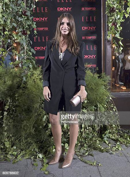 Elena Furiase attends the ELLE DKNY party at El Amante on September 22 2016 in Madrid Spain