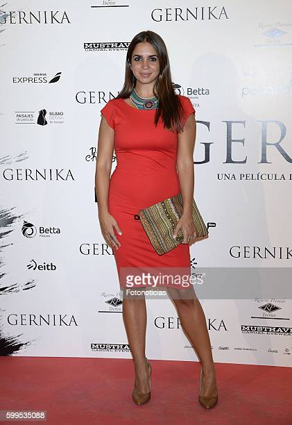 Elena Furiase attends the 'Gernika' premiere at Palafox cinema on September 5 2016 in Madrid Spain