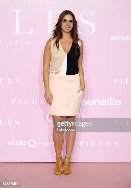 Elena Furiase attends the 'Pieles' premiere pink carpet at Capitol cinema on June 7 2017 in Madrid Spain