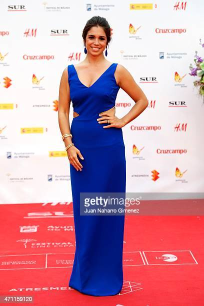 Elena Furiase attends the 'Solo Quimica' premiere during the 18th Malaga Spanish Film Festival at the Cervantes Theater on April 25, 2015 in Malaga,...