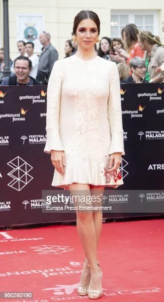Elena Furiase during the 21th Malaga Film Festival closing ceremony at the Cervantes Teather on April 21 2018 in Malaga Spain