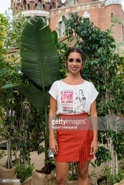 Elena Furiase poses for a portrait during Barcelona 080 Fashion Week held at the Recinte Modernista de Sant Pau on June 27, 2017 in Barcelona, Spain.