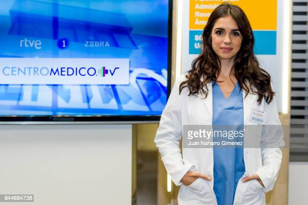 Elena Furiase presents the new series of the TV show 'Centro Medico' on April 11 2018 in Madrid Spain