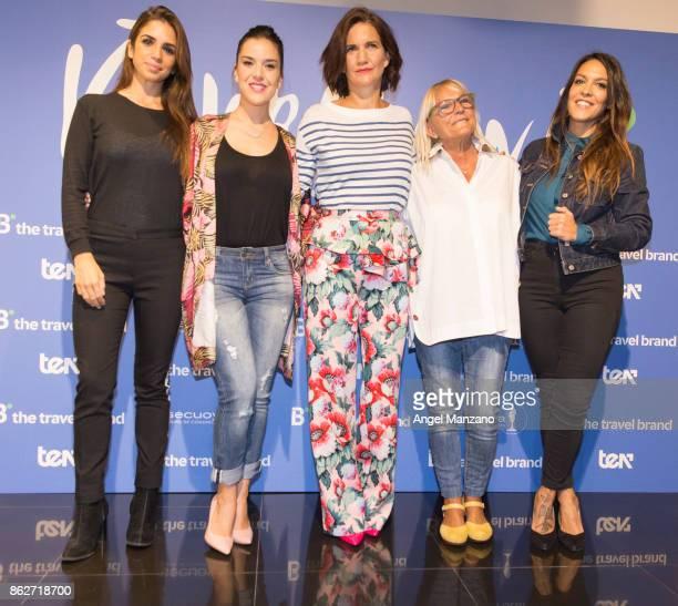 Elena Furiase Roko Samantha VallejoNajera Maribel Gil and Lorena Castell attend 'Viajeras con B' Season Presentation photocall on October 18 2017 in...